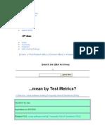 Test Metrices