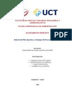 Relación entre Plan operativo y el enfoque del proceso Administrativo