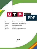 Diseño y Cálculo de Transformador Eléctrico Trifásico
