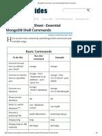 MongoDB Cheat Sheet - Essential MongoDB Shell Commands