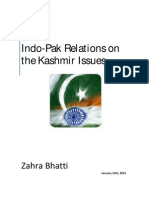Indo -Pak Relation on Kashmir Issue