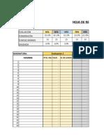 Hoja de registro evaluaciones y calificaciones