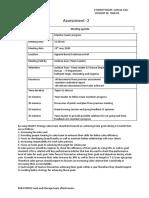BSBWOR502 Assessment -2