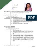 001 CV of bushra Ahmed
