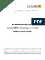 Recommandations pour la compatibilité entre mises à la terre et protection cathodique