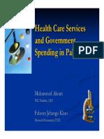 Healthcare spending Pakistan