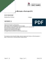Teste Sumativo Biologia e Geologia 10º 01 V2-2019