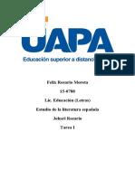 Literatura española - tarea I (1)