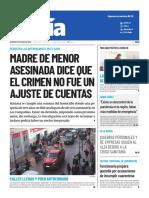 07 Diario El Día de Coquimbo, Chile 21-06-2020 Madre de menor asesinada dice que el crimen no fue un ajuste de cuentas.