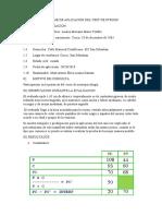 INFORME DE APLICACIÒN DEL TEST DE STROOP