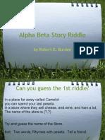 Alpha Beta Story Riddle