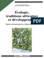 Karthala - Ecologie Tradition Et Développement Afrique Subsaharienne