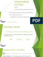Int Unit 1- Auxiliary Verbs
