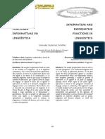 GUTIÉRREZ ORDÓÑEZ, Salvador - «Información y Funciones Informativas en Lingüística»
