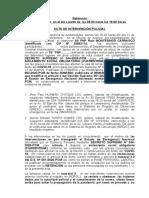 ACTA DE INTERVENCIÓN POLICIAL CASOS CORONAVIRUS EN ANDAHUAYLAS. MONTESINOS