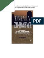 Bond 1998 Uneven Zimbabwe galleys.doc