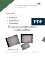 REPORTE DE15 FORMATEOS