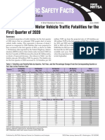 Early Estimate of Motor Vehicle Traffic Fatalities for the First Quarter of 2020