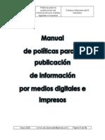 Manual de Politicas Para La Publicación de Información MMC