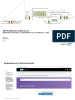 SAP Certification in the Cloud - Redemption of Activation Codes