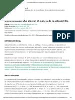 Comorbidities that impact management of osteoarthritis - UpToDate