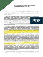 Carta Abierta a Las Recomendaciones de Tratamiento Del COVID - Documento FInal