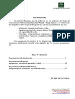programacion didactica de violin 2019 - 2020