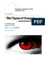 Six Types of 'Energy Vampires' that Emotionally Exhaust You