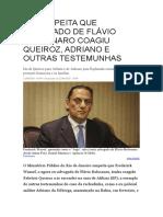 MP SUSPEITA QUE ADVOGADO DE FLÁVIO BOLSONARO COAGIU QUEIROZ