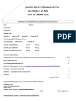 Bulletin Inscription 27 ème Convention des Arts Classiques du Tao