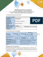 Guía de actividades y rubrica de evaluación- Fase 5 – Discusión, trasferencia y evaluación