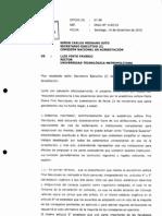 OFICIO68_respuesta Rector UTEM de CNA Sobre Informe MaElianaPino