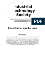 Industrial Technology Society Consti. & by Laws