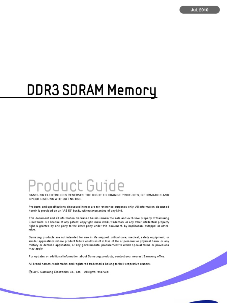 Ddr3 Product Guide Jul 10   Digital Electronics   Computer Engineering