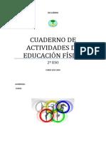 CUADERNO DE ACTIVIDADES DE EDUCACIÓN FÍSICA