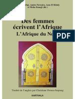 Des femmes écrivent L'Afrique, L'Afrique du Nord