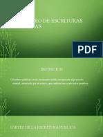 REGISTRO DE ESCRITURAS PUBLICAS