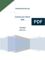 Instructivo de uso. Cuentas por Cobrar (AR) SISTEMA ERP V12..pdf
