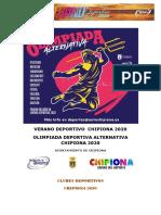 OLIMPIADA DEPORTIVA 2020