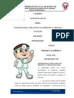 ANTROPOLOGIA Y RELACION CON MEDICINA Y CIENCIAS SOCIALES - copia
