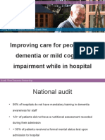 Improving care for people with dementia or mild cognitive impairment while in hospital
