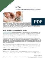 ADHD Parenting Tips