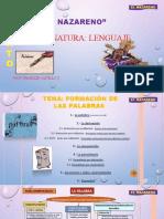 LENGUAJE CUARTO PROCESO DE FORMACIÓN DE LAS PALABRAS.pptx