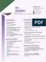 CV+Portfólio Tom Hofstätter