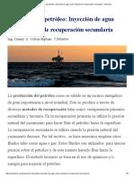 Extracción de petróleo_ Inyección de agua como método de recuperación secundaria - iquimicas