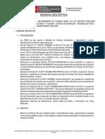 M. DESCRIPTIVA N° Proy. 40-CATAHUI Y TUCSUMA-PICHACANI