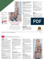 LW5972 Tie Front Lovers Knot Jacket Free Crochet Pattern