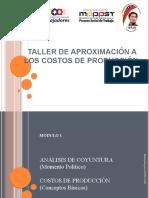 TALLER DE APROXIMACIÓN A LOS COSTOS, PRECIOS.pptx