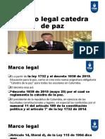 Marco legal catedra de paz