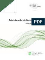 Adm. Banco de Dados - Cronograma